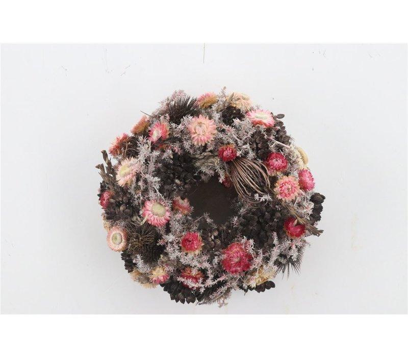 Dekokranz  in Natur/Coralle ca. 25cm Durchmesser