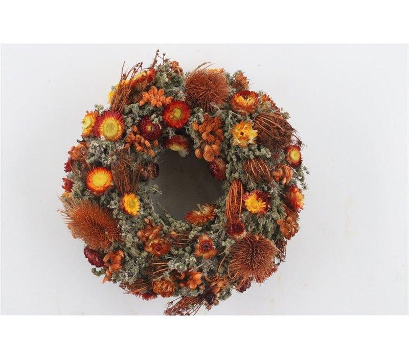 Dekokranz  in Natur/Orange ca. 25cm Durchmesser