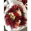 1 Strauß aus Trockenblumen in den Farben Rot/Weiß