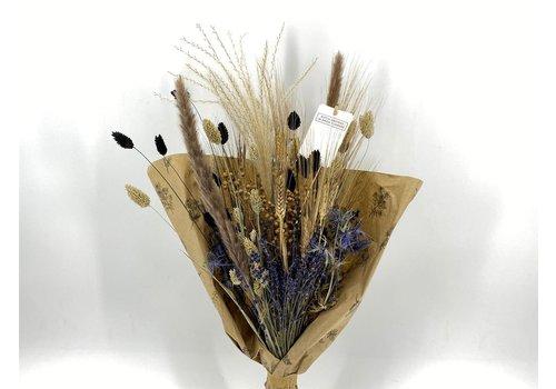 Blumenbouquet aus Trockenblumen in Blau/Schwarz (915977)