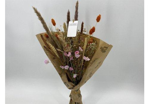 Blumenbouquet aus Trockenblumen in Naturtönen (110527)