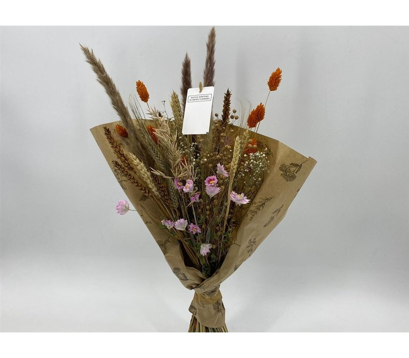 1 Blumenbouquet aus Trockenblumen in Naturtönen