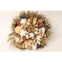 1 Großer Strauß aus Trockenblumen in Naturtönen