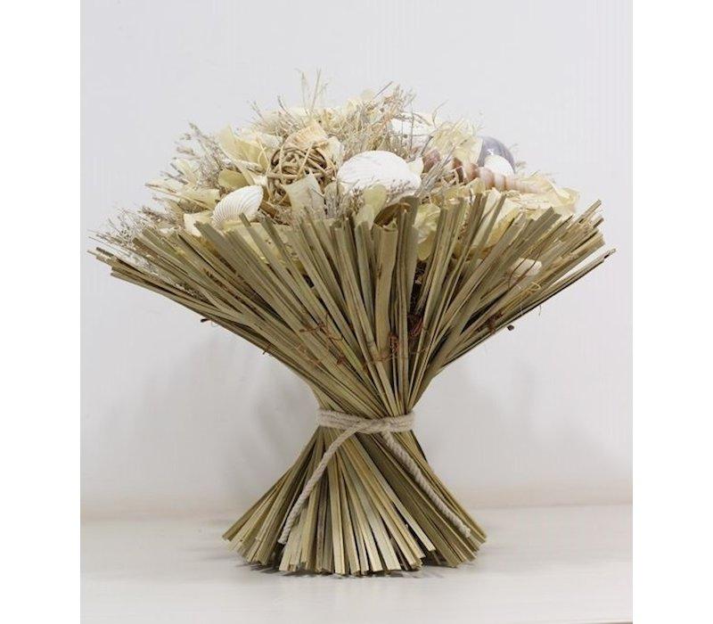 1 Großer Strauß aus Trockenblumen in Maritim gehalten