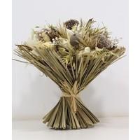 1 Großer Strauß aus Trockenblumen in Weiß/Creme