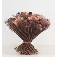 1 Großer Strauß aus Trockenblumen in Pink