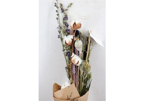 Blumenbouquet aus Trockenblumen mit Baumwolle und Mohn (118582)