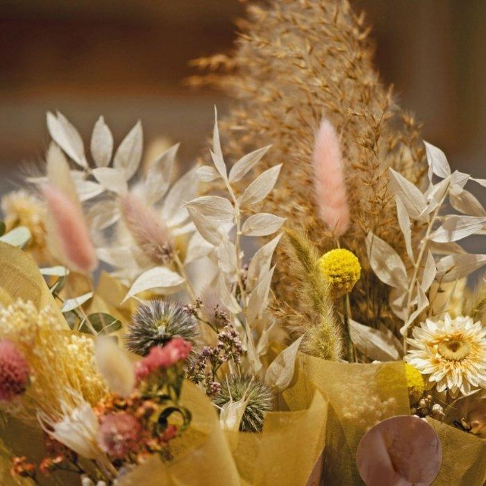 Blumenbouquets aus Trockenblumen