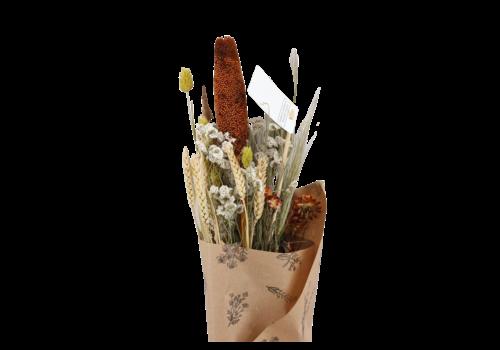 Blumenbouquet aus Trockenblumen in Gelb Braun (118583)