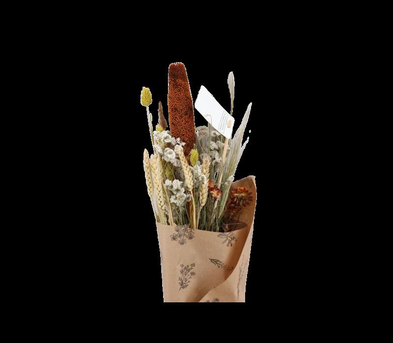 1 Blumenbouquet aus Trockenblumen in Gelb Braun