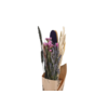 1 Blumenbouquet aus Trockenblumen Konfetti Schwarz Getrocknet