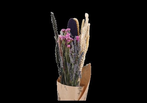 Blumenbouquet aus Trockenblumen Konfetti Schwarz Getrocknet