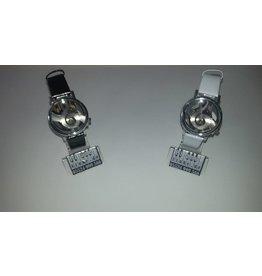 Armbanduhr • G-Notenschlüssel • Schwarz/Silber