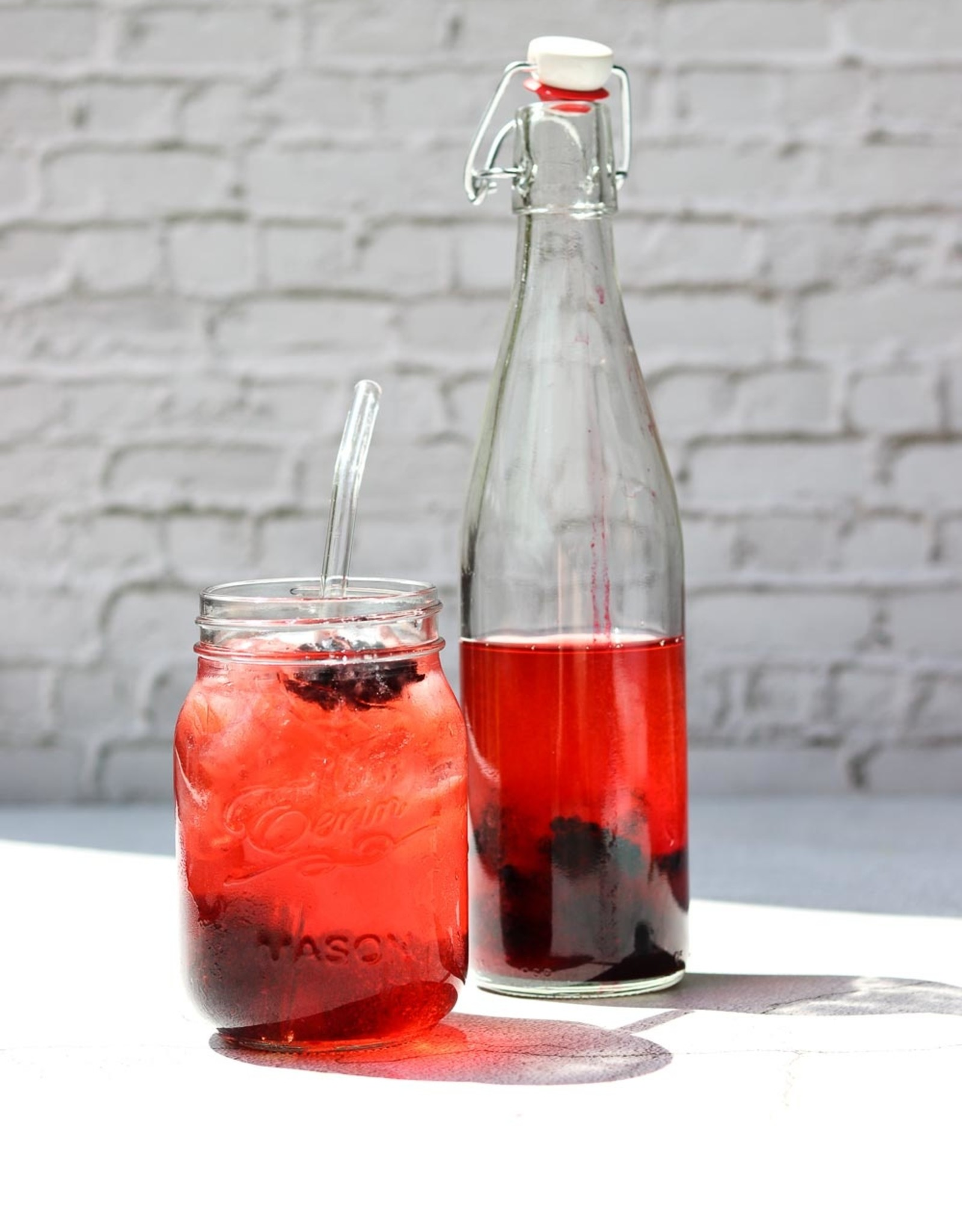 Mani Vivendi Glazen kombucha of kefir beugelfles - 500 ml