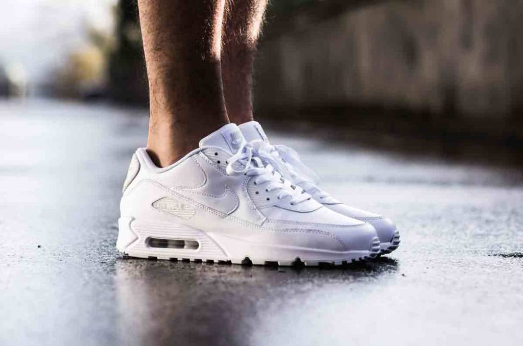 Nike Air Max 90 Leather White - Size 10 and up - Tenandup f431ebcb1