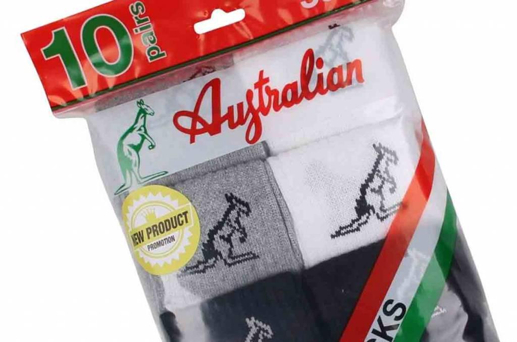 Australian Australian Sports Socks Size 43-46 (10 Pack)