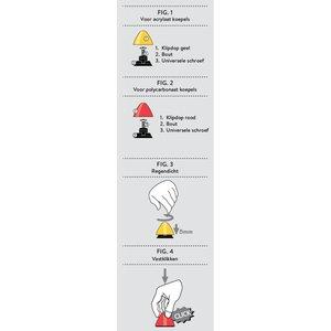 Skylux® klikdopje voor afdichten van lichtkoepel