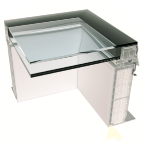 Skylux® iWindow2 glas koepel 100 x 130 cm