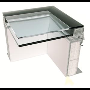 Skylux® iWindow2 glaskoepel 100 x 200 cm voor platte daken