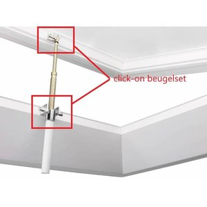 Skylux® Click-on beugel set voor manuele spindel