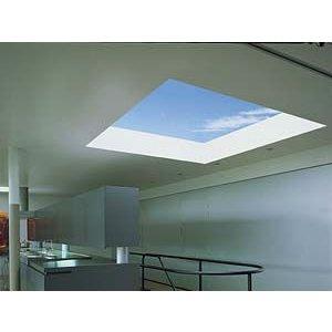 Skylux® Bolvormige lichtkoepel vierkant 130x130 cm Polycarbonaat of Acrylaat
