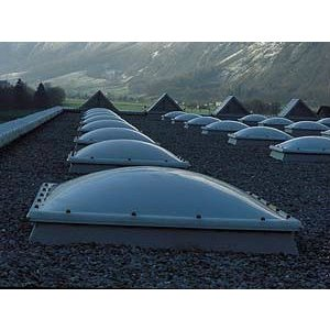 Skylux® Bolvormige lichtkoepel vierkant 110x110 cm Polycarbonaat of Acrylaat