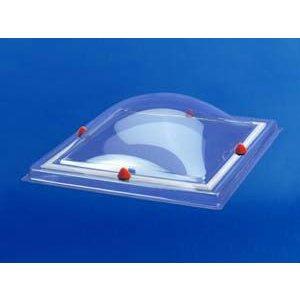 Skylux® Bolvormige lichtkoepel vierkant 80x80 cm Polycarbonaat of Acrylaat