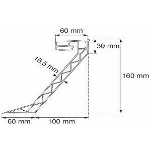 Skylux® PVC Opstand 16/20 vierkant 130x130 cm