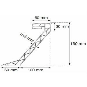 Skylux® PVC Opstand 16/20 vierkant 110x110 cm