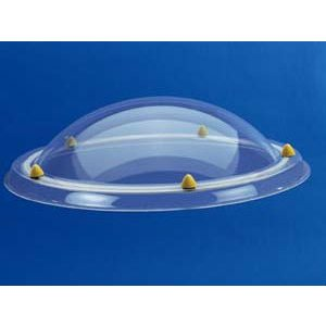 Skylux® Ronde lichtkoepel 100cm Polycarbonaat of Acrylaat