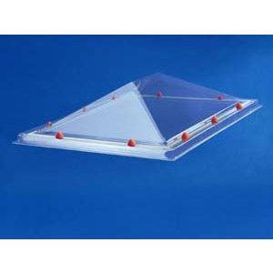 Skylux® Piramide lichtkoepel vierkant 130x130 cm Polycarbonaat of Acrylaat
