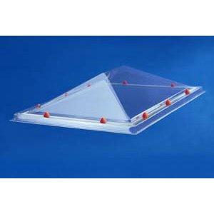 Skylux® Piramide lichtkoepel rechthoek 80x180 cm Polycarbonaat of Acrylaat