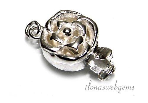 Sterling zilveren bakslot roosje