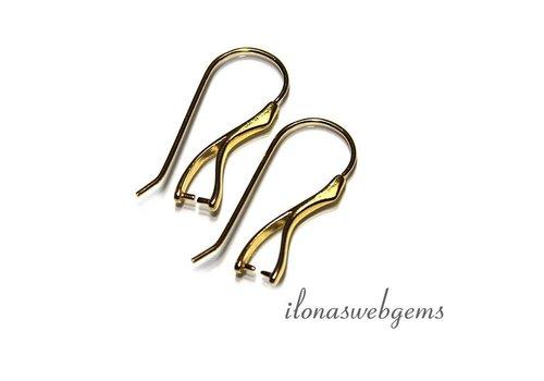 1 paar Vermeil oorhaakjes met bail/hanger clasp