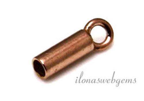 Rosé vermeil eindkapje 1.7mm