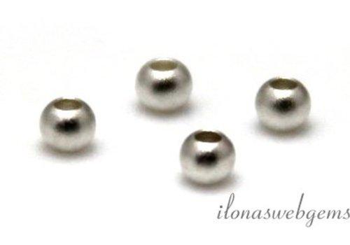 Sterling zilveren spacer/kraal mat ca. 2.5mm