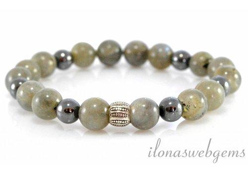 Inspiration: Labradorite bracelet on elastic
