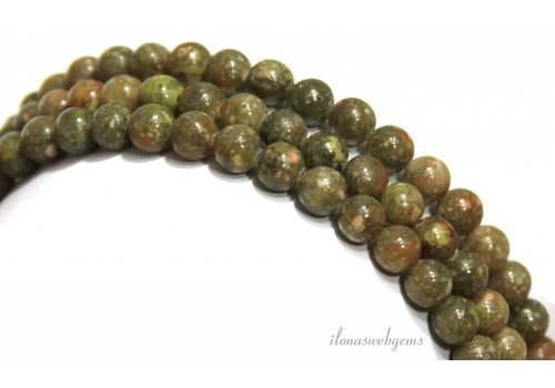Unakite beads beads around 6mm