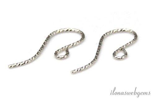 1 Paar Sterling Silber earhooks über 7x0,7mm