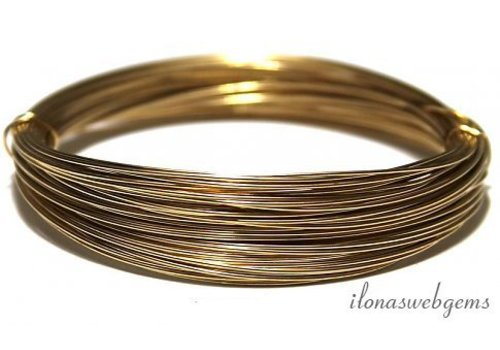 1cm 14k/20 Gold filled draad hard. 0.8mm / 20GA