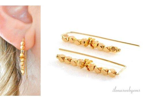 Inspiration: Earrings mirror beads