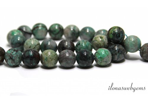 Chrysocolla beads approx. 14.5mm