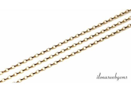 1 cm Gold filled jasseron schakels / ketting ca. 2.6x1.8mm