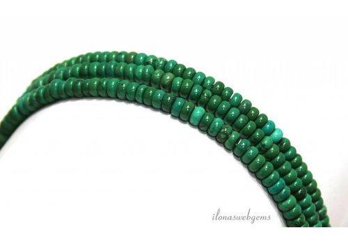 Turquoise beads roundel around 5x3mm