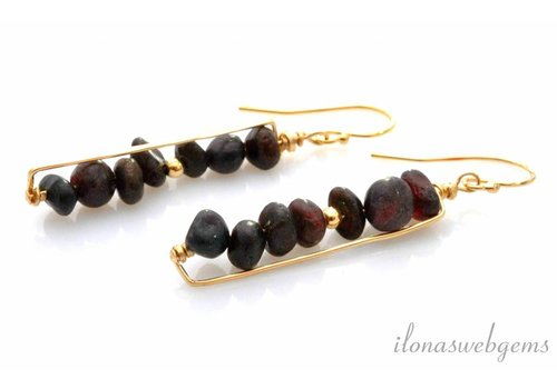 Inspiration: Earrings with hammered Goldfilled wire