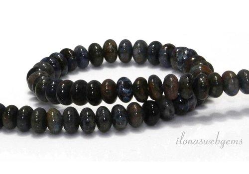 Sunset Dumortirite beads roundel around 6x4mm