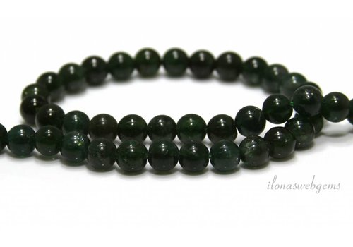 Apatite beads round green about 7mm