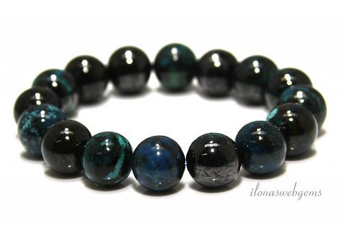 Chrysocolla beads (bracelet) AA quality approx. 14mm