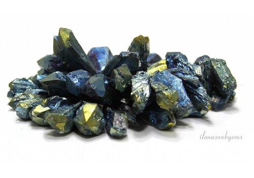 Bergkristal Elektro plated side drill ca. 31x12x9mm