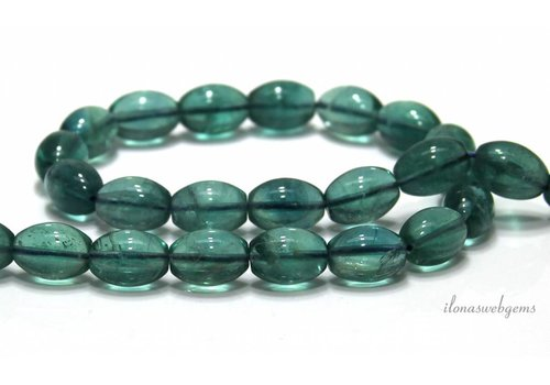 Fluorite beads about 15x10mm